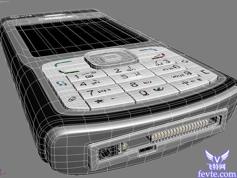 打造nokia手机材质 飞特网 MAYA材质灯光