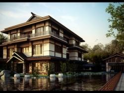 漂亮别墅外景效果图设计欣赏