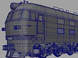 MAYA建模教程:火车建模