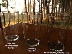 MAYA做玻璃的三种材质