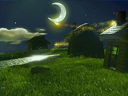MAYA渲染教程 MAYA出渲染幽静的乡村夜色