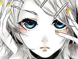 PS绘制蓝眼睛女孩过程欣赏