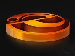 超酷3D质感标志设计
