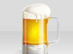 PS绘制一杯冰爽啤酒