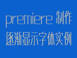 premiere制作逐渐显示字体实例