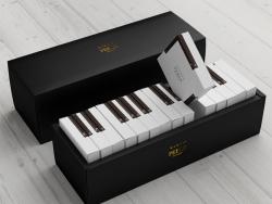 灵感源自钢琴的蛋糕包装设计