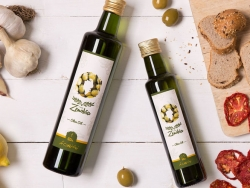 有机橄榄油和番茄酱包装设计