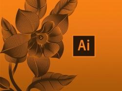 AI混合工具绘制线描花朵教程