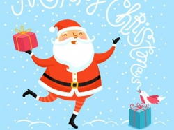 CDR绘制可爱风格圣诞节插画