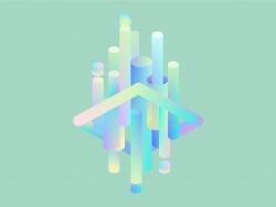 AI制作3D立体渐变插画