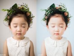 PS调出柔美胶片质感儿童照片教程