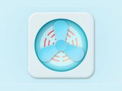 PS鼠绘写实风格风扇图标教程