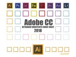 Adobe 2018系列软件英文版快捷键表
