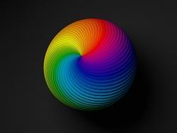 C4D-彩色螺旋球制作
