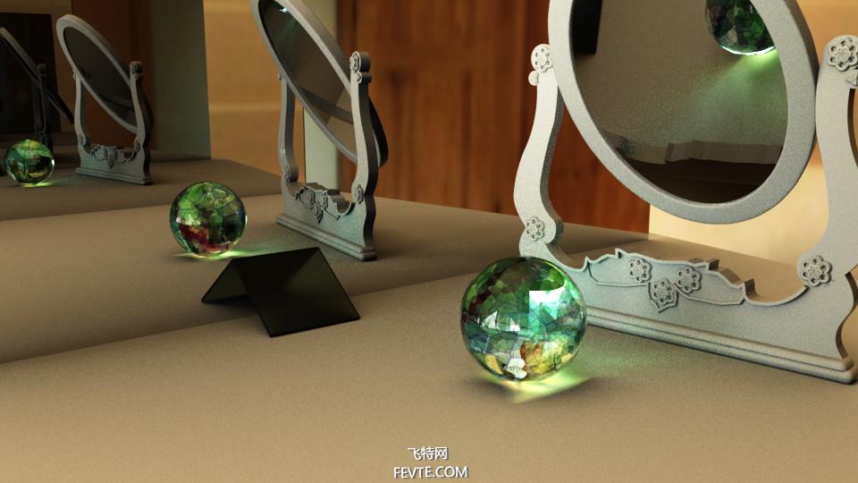 阿诺德毛玻璃、玻璃、透明玻璃材质渲染 飞特网 MAYA材质教程