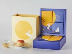 3款插画风格月饼包装设计