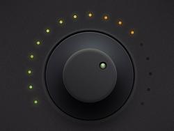 PS鼠绘颗粒质感音量调节按钮