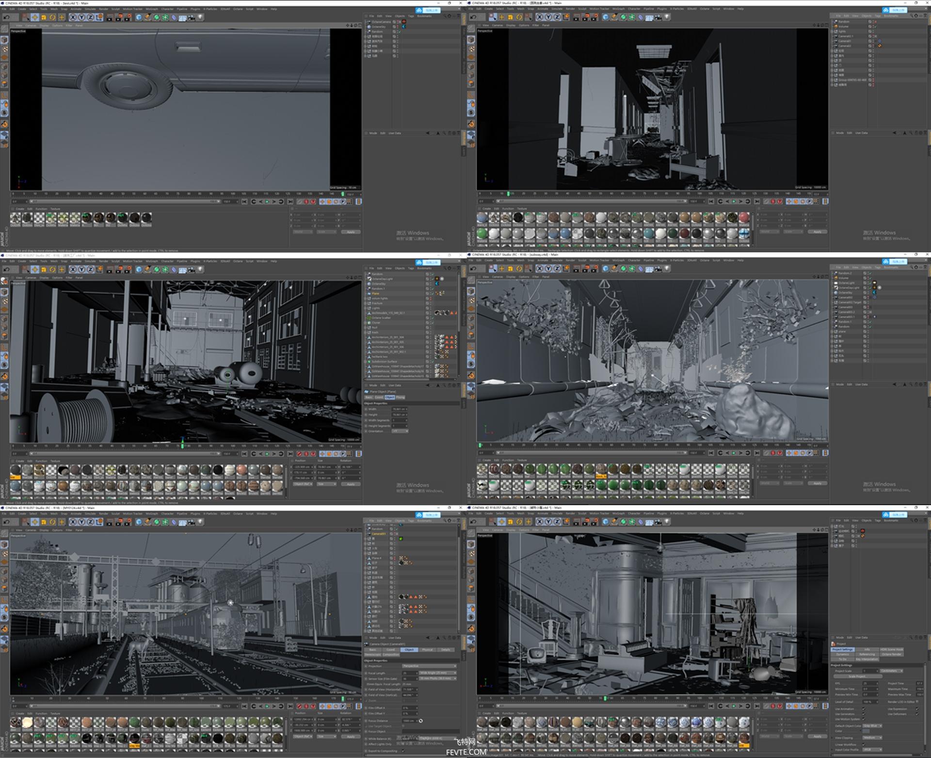 C4D末日写实场景 飞特网 CG视觉作品欣赏
