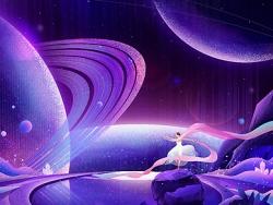 PS绘制颗粒质感星空夜景插画教程