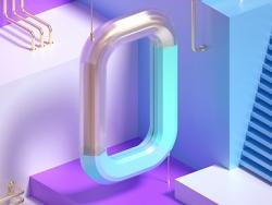 C4D+OC制作孟菲斯风格海报教程