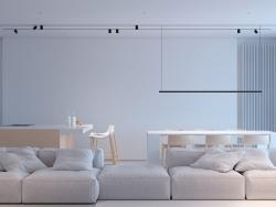 极简纯白大户型公寓室内设计
