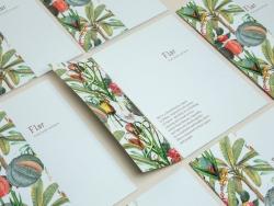 有机食品说明折页和卡片设计