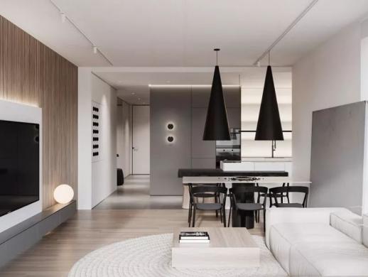 简约精致风格的公寓室内设计