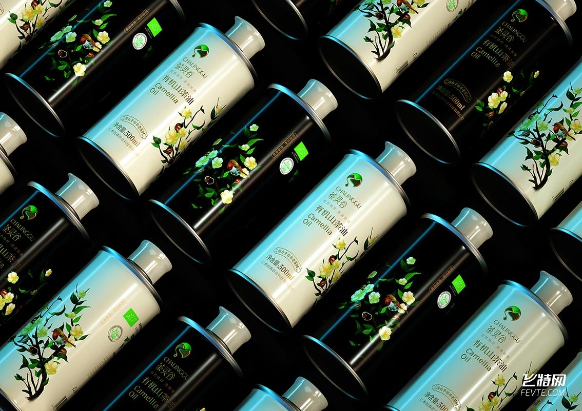 山茶油包装/原创插画/成都设计公司/一道设计原创作品