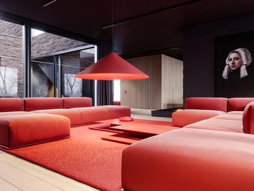 51款以红色为主色调的客厅装修设计