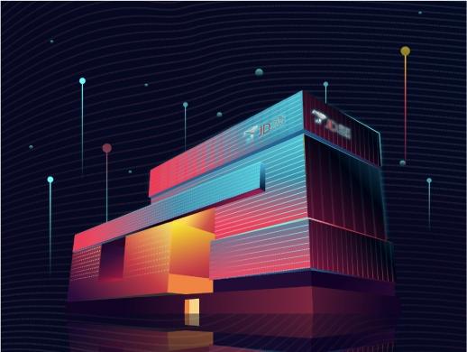 AI绘制京东总部大楼