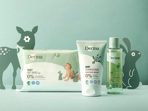 婴儿护肤乳和湿巾包装设计