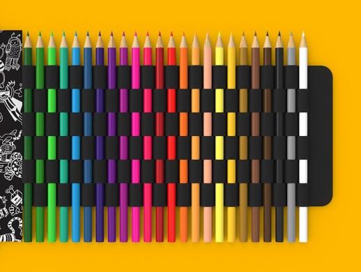 创意彩色铅笔包装设计