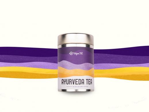 质感插画风格茶叶罐包装设计