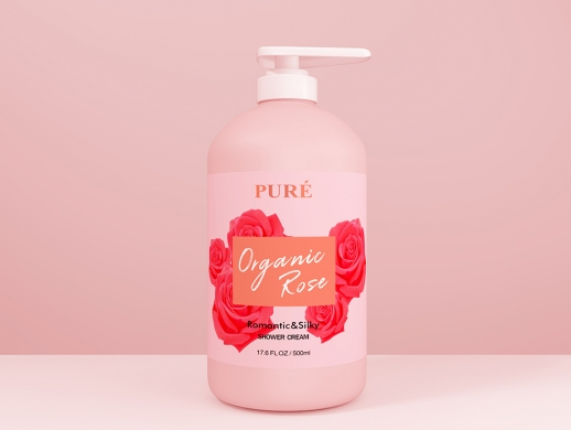 玫瑰沐浴露包装瓶设计