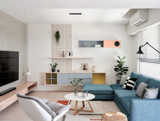 4个清爽简约风格的3居室室内设计