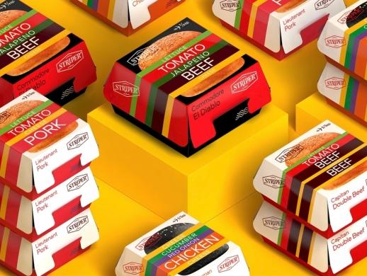 汉堡包包装盒设计