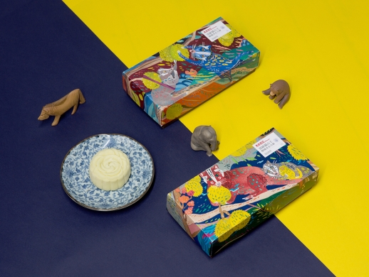 榴莲月饼礼盒包装设计
