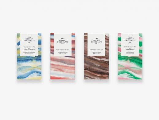 水彩风格巧克力包装设计