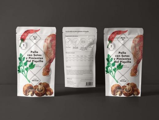 插画风格食品干货包装设计