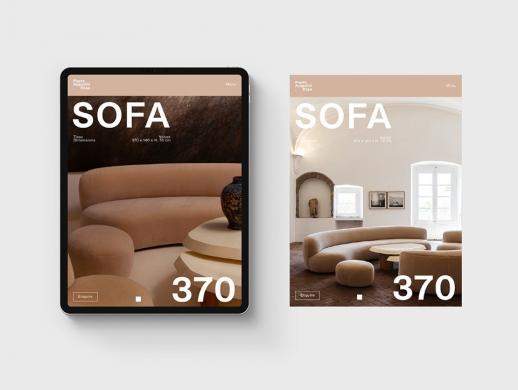 沙发公司网站UI设计