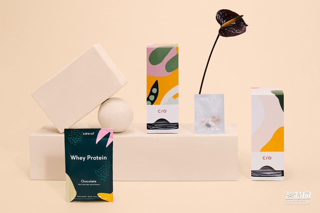 柔美风格女性养颜药品包装设计 飞特网 药品包装设计