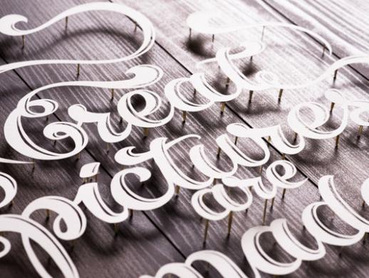 一款纸雕字母海报设计