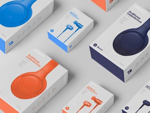 耳机品牌包装和品牌宣传设计