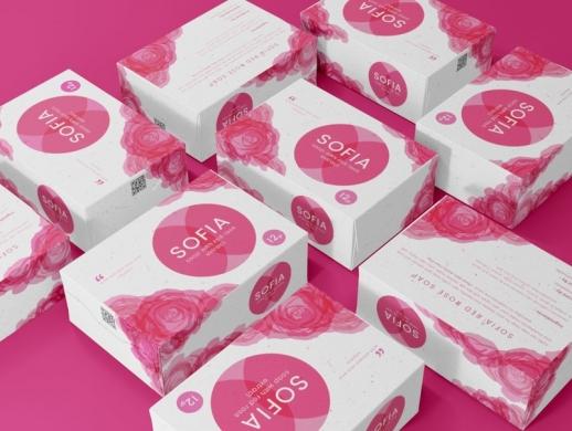 玫瑰香皂包装盒设计