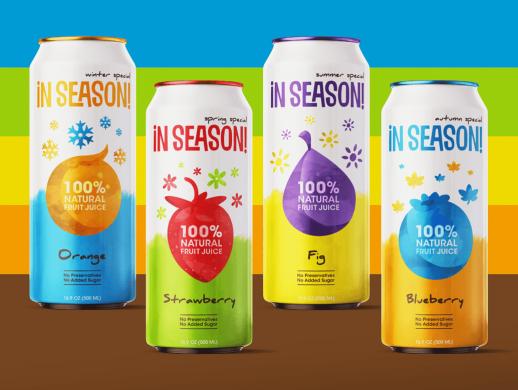 天然果汁包装设计