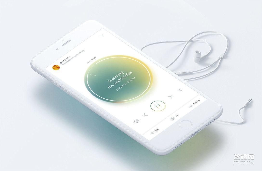 音乐APP UI设计 飞特网 UI设计