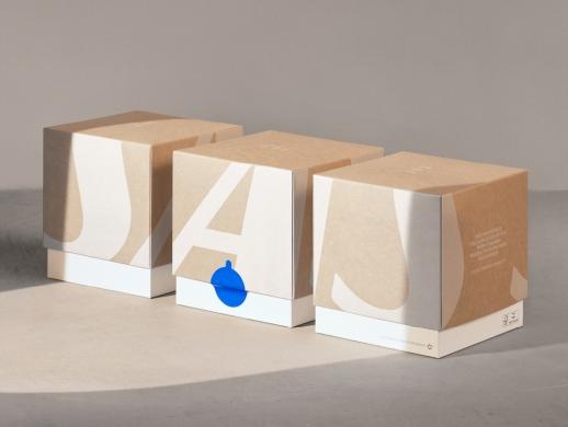简约素雅风格的可降解食品包装盒设计