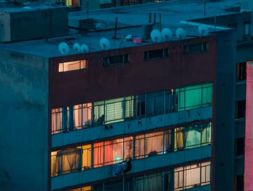 C4D制作城市大楼夜景