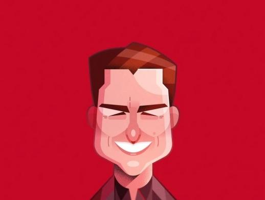 好莱坞明星插画设计