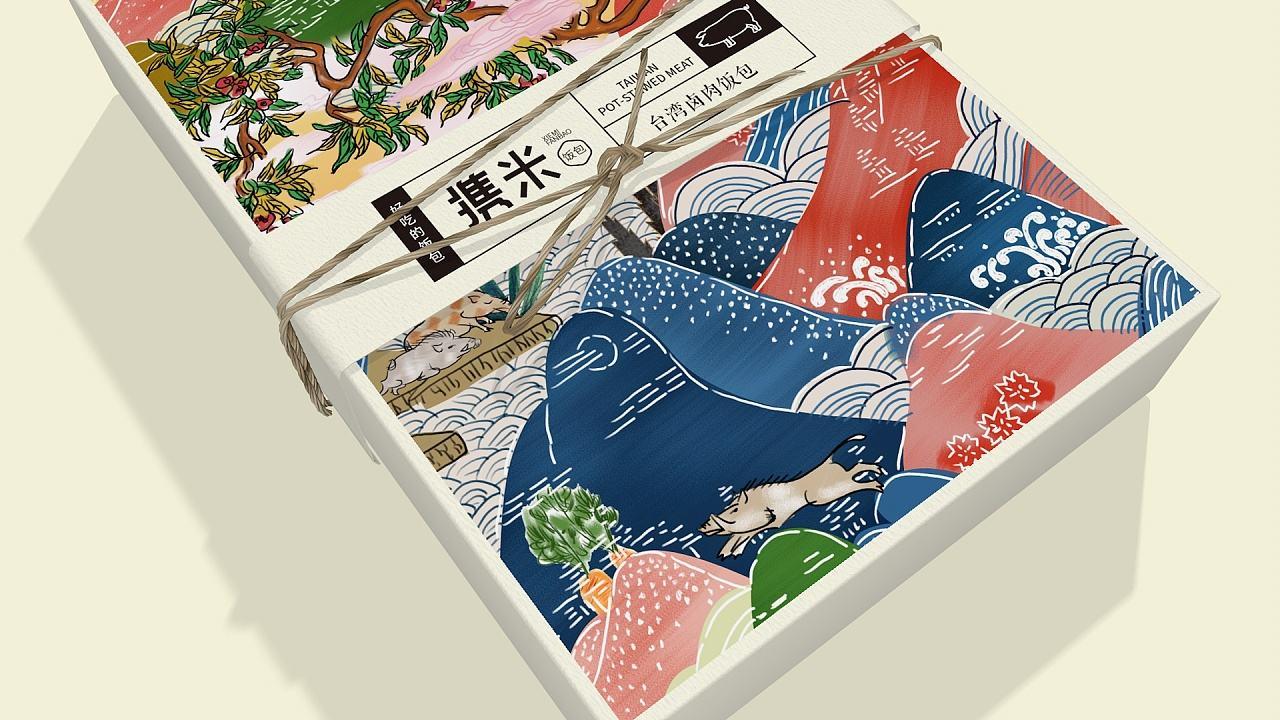 《携米》饭包系列包装设计 飞特网 食品包装设计